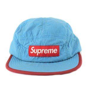 Supreme SS12 Soft Bill Nylon Blue Red 5 Panel Hat